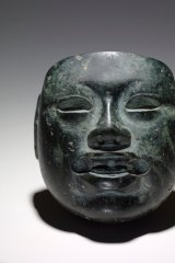 Olmec Mask Greenstone, 900-400 BCE, Mexico in  <i>A History of the World in 100 Objects</i>, National Museum of Australia