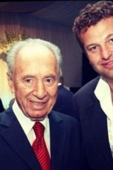 Shimon Peres and Alex Goodman.