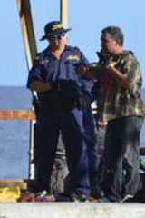 Asylum seekers arrive by boat at Christmas Island.