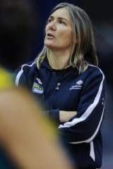 2nd May 2012, Canberra Times poto by Rohan Thomson, Opals training Coach Carrie Graf
