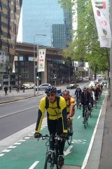End of the line: Kent Street cycleway.