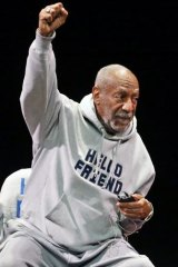Bill Cosby on stage in Denver on Saturday.