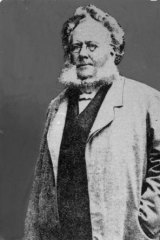 Henrik Ibsen, 1828-1906, Norwegian playwright.