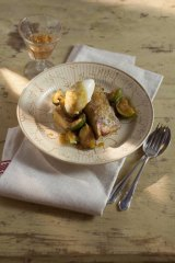 Seasonal treat ... pan-fried brioche with figs from Shannon Bennett's <i>28 Days in Provence</i>.