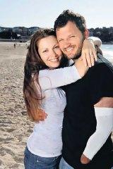 Survival ... Lisa and Glenn Orgias at Bondi Beach, where Glenn was attacked.