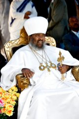 Forward thinker ... Patriarch Abune Paulos shocked the church by suggesting that HIV sufferers take retroviral drugs with their holy water.