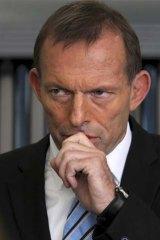 Rare apology: Opposition Leader Tony Abbott.