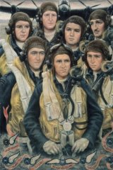"Stella Bowen ""Bomber Crew""(Australian War Memorial ID# ART26265) in ""Reality in flames: Modern Australian Art and the Second World War"" at the Australian War Memorial."