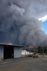 A Greenbushes local has taken a photo of the fire approaching his property.