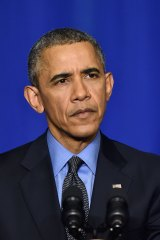 US President Barack Obama in December 2015 as the Paris climate conference got under way.