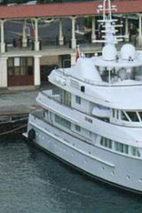 Smooth sailing ... one of Putin's four yachts in his collection.