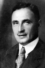 Carrillo Gantner's grandfather, Sidney Myer, who founded the Myer department stores, in 1927.