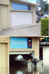 Before and after: Telstra shop in Gympie.