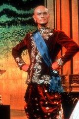 Yul Brynner in <i>The King and I</i>.