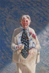 Tim Storrier's portrait of Sir Les Patterson has won the Packing Room Prize.