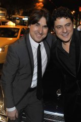 Nick Giannopoulos and Vince Colosimo at the world premiere of The Kings of Mykonos at The Jam Factory in South Yarra.