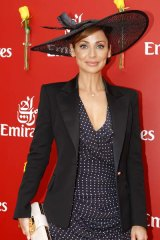 Natalie Imbruglia at the Emirates marquee in the Birdcage at Flemington today.
