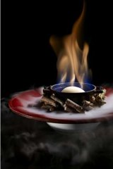 Flaming sorbet