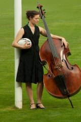 Griffyn Ensemble bassist Holly Downes.