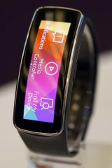 Samsung's Gear Fit fitness band.