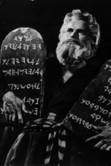 Natural forces ... Charlton Heston as Moses.