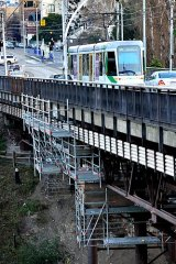 Safe for now: VicRoads has assessed Victoria Bridge in Richmond and says repairs will be necessary.