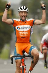 """""""What a way to start - at the Tour Down Under"""" ... Nathan Haas."""