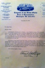 The US congress letter.