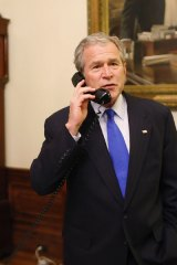 George Bush: Lying low.