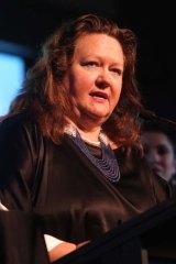 Mining magnate: Gina Rinehart.