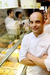 Full to bursting ... Adriano Zumbo inside his patisserie in Balmain.