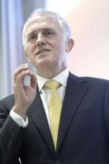 Hinted at relaxation: Malcolm Turnbull.