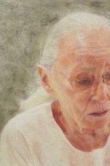 Jenny Sages's self-portrait.
