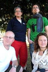 Bonhoeffer Four: Margaret Pestorius and Jarrod McKenna (back), with Simon Moyle and Jessica Morrison.