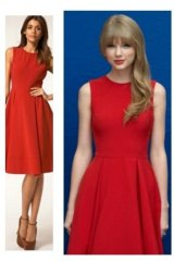 ASOS fan Taylor Swift regularly sports the brand while walking the red carpet. She wore this $80 dress while promoting Dr. Suess' ''The Lorax'' in 2012.