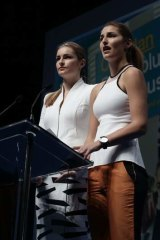 Tony Abbott's daughters,  Frances and Bridget.