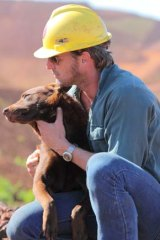 Animal magnetism ... Josh Lucas and Koko in the Australian film <i>Red Dog</i>, which was shot in the Pilbara region with the backing of Rio Tinto and Woodside.