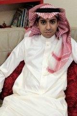 Saudi blogger Raif Badawi in 2012.