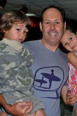Matt Joyce and wife Angela Higgins with two of their three children, Jack and Clancy. The picture was taken while they were on holiday in Dubai in January 2009, before he was arrested.