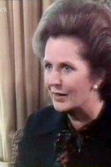 Margaret Thatcher being interviewed by George Negus in 1981.