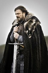 By the sword: Sean Bean as Lord Eddard 'Ned' Stark in the first season of <i>Game of Thrones</i>.