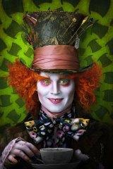 Johnny Depp as The Mad Hatter in <i>Alice in Wonderland</i>.