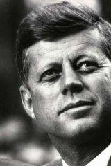 Former US President John F. Kennedy.