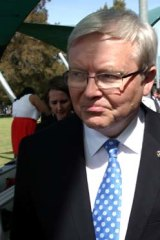 September 6: Rudd on the campaign trail.