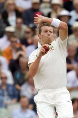 Peter Siddle during the 2013 Ashes Test series cricket match against England.