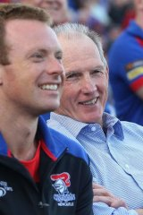 Out of the shadows: Knights coach Wayne Bennett.