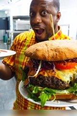 The giant masoko burger.