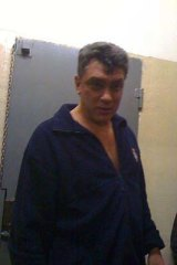 Nemtsov in jail after his arrest on New Year's Eve.