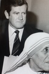 Alan Gill with Mother Teresa.