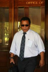 Nauruan politicians, including President Marcus Stephen (above) received secret funds.